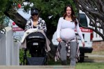 Very Pregnant Jennifer Love Hewitt out for a stroll with her daughter in LA