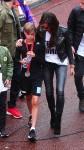 Victoria Beckham with son Romeo at mini London Marathon