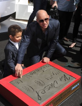 Vin Diesel with son Vincent Sinclair at Hand print and Foot print Ceremony