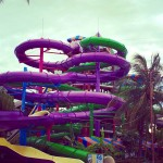 Water slide Aquaventuras Park in Puerto Vallarta