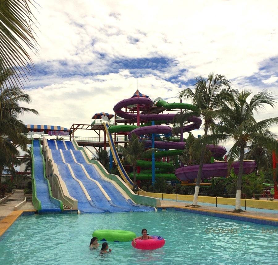Water slides Aquaventuras Park in Puerto Vallarta