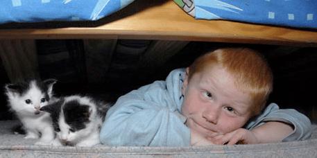 boy under his bed