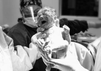 newborn second after birth