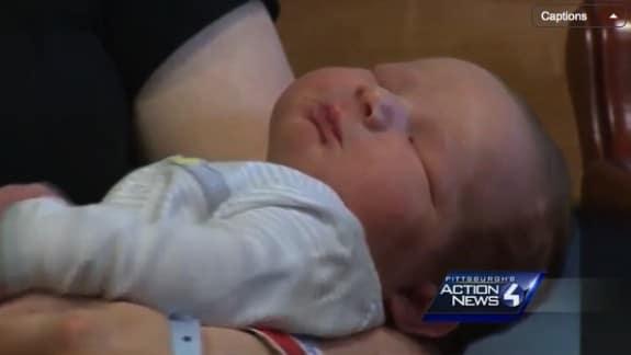 13lb 10ounce baby Isaac Hall