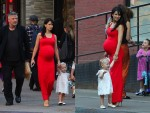 Alec Baldwin and Pregnant wife HIlaria out in NYC with daughter Carmen
