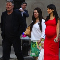 Alec and Hilaria Baldwin Stroll in Manhattan With Daughter Carmen