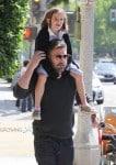 Ben Affleck piggy backs daughter Seraphina