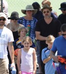 Brad Pitt and Angelina Jolie with daughter Shiloh after a soccer game in LA