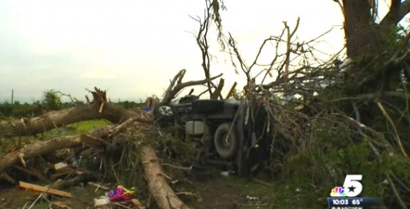 Family Survives EF3 Tornado In SUV W: Newborn Baby