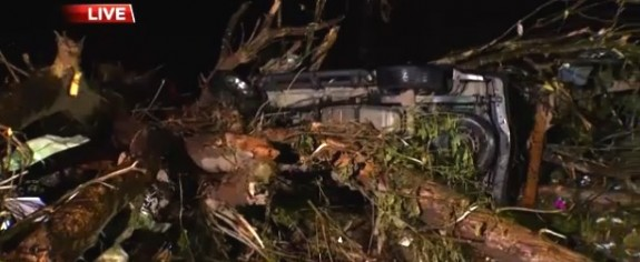 Family Survives EF3 Tornado In SUV With Newborn Baby