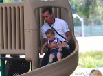 Gavin Rossdale at the park with son Apollo