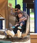 Gwen Stefani at the park with son Apollo