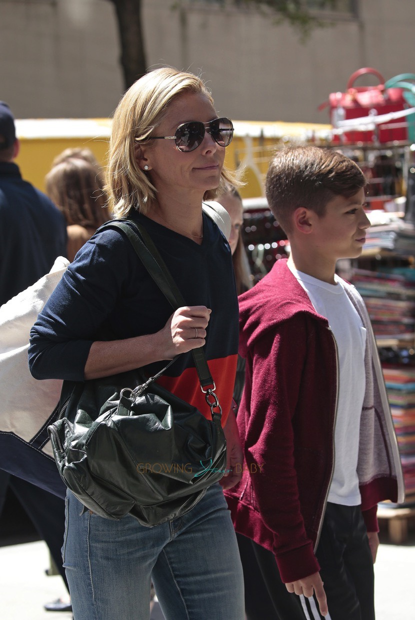 Kelly Ripa With Son Joaquin Consuelos Out In Nyc Growing