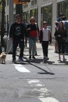 Kelly Ripa with sons Michael and Joaquin Consuelos out in NYC