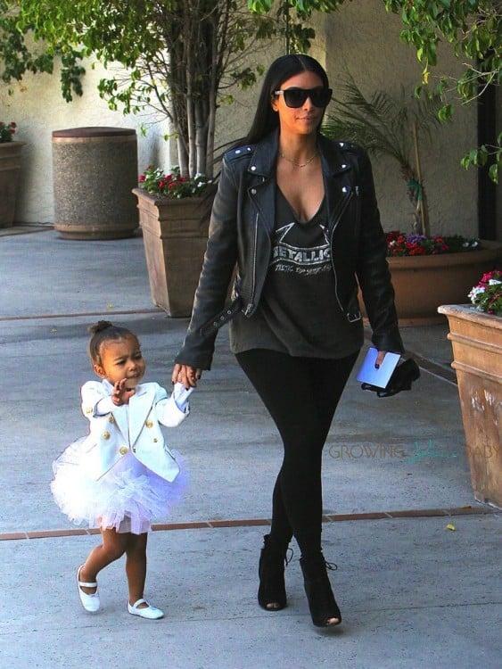 Kim Kardashian takes daughter North to ballet class in LA