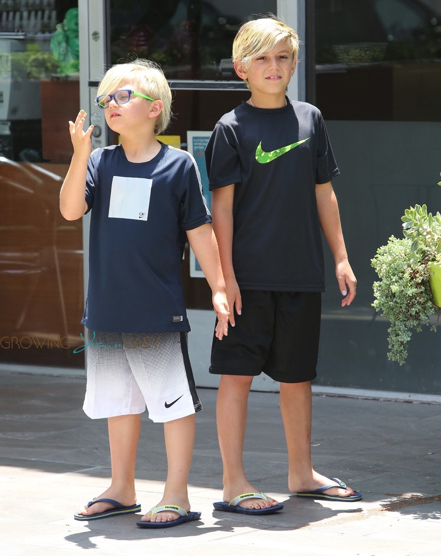 Kingston And Zuma Rossdale At The Park Growing Your Baby