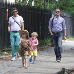 Neil Patrick Harris and David Burtka out with their twins Harper and Gideon in NYC