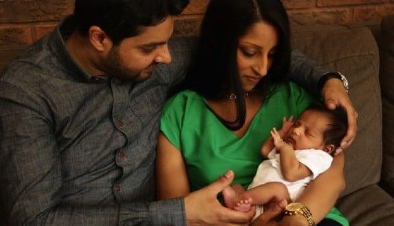 New mom Natasha Rjani with son Zain