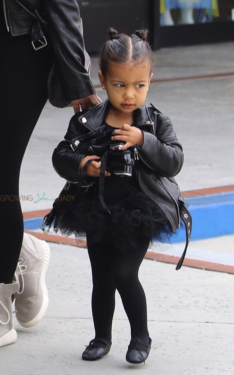 North West headed to dance class