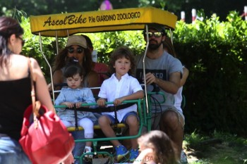 Penelope Cruz with kids Leo and Luna Bardem in Italy