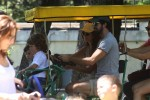 Penelope Cruz with kids Leo and Luna Bardem in Italy