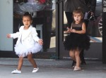 Penelope Disick and North West at dance class
