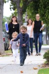 Samuel Affleck runs to school