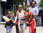 Tori Spelling and Dean McDermott out with kids Liam, Stella, Finn & Hattie