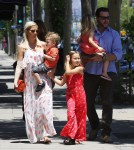 Tori Spelling and Dean McDermott out with kids Liam, Stella, Finn and Hattie