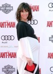 A Very pregnant Evangeline Lilly at Antman Premiere LA