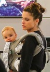 Amanda Peet at LAX with son Henry