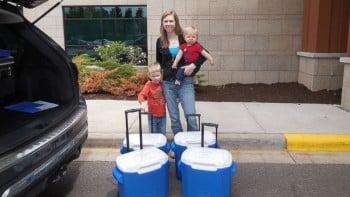 Amy Bormann with sons Greyson and Garrett