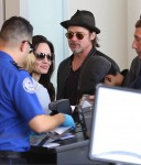 Angelina Jolie and Brad Pitt at LAX