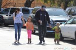 Ben Affleck and Jennifer Garner with kids Samuel and Seraphina at the Farmer's Market