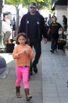 Ben Affleck at the Farmer's Market with kids Sam and Seraphina