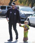 Ben Affleck at the Farmer's Market with son Samuel