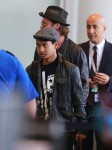Brad Pitt at LAX with son Maddox