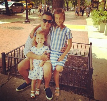 Cash Warren with daughters Honor and Haven - Father's Day