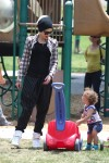 Gwen Stefani with son Apollo at the park