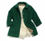 Harper Beckham's Carmel Baby Jacket and Chloe dress