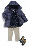 Harper Beckham's Chloe Puffer jacket and Marc Jacobs shoes