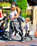 Hilary Duff spends the day at Disneyland with son Luca