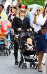 Hilary Duff is all smiles as she enjoys a day with her son Luca at Disneyland