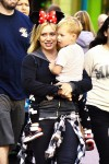 Hilary Duff visits Disneyland with son Luca