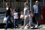 Jennifer Lopez with kids Max & Emme Anthony at a street festival in NYC