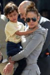Jennifer Lopez with kids Max & Emme Anthony at a street festival in New York City