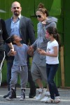 Jennifer Lopez with kids Max and Emme Anthony at a street festival in New York City
