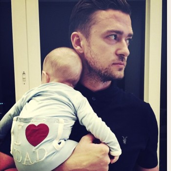 Justin Timberlake Father's Day with Silas