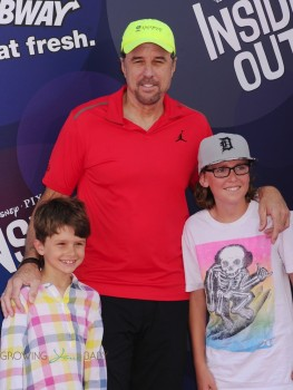 Kevin Nealon attends the Inside out Premiere with son Gable