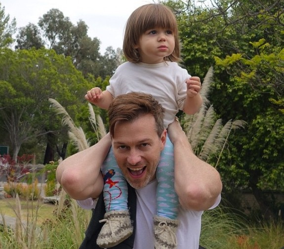 Kyle Newman with son James - Father's Day